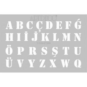 Artdeco Stencil A4 21x29cm Harfler -ST209