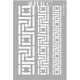 Artdeco Stencil A4 21x29cm Bordür -ST216