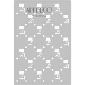 Artdeco Stencil A4 21x29cm Vintage Bay-2 -ST215