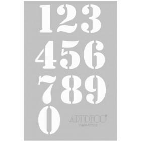 Artdeco Stencil A4 21x29cm Rakamlar -ST212