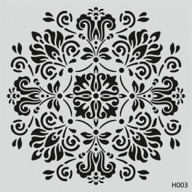 H003 Mandala Model-1 Stencil 25x25cm