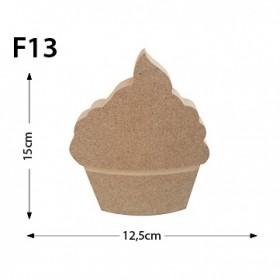 Cupcake Figür Ahşap Obje F13