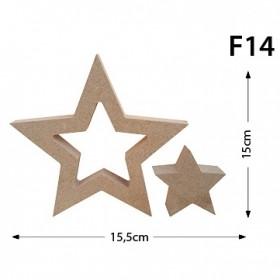 2'li Takım Yıldız Figür Ahşap Obje F14