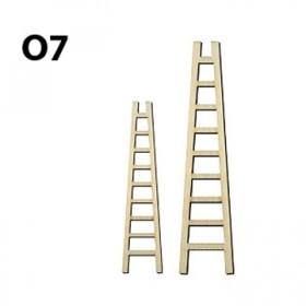 Lazer Kesim Ahşap Obje O7 Merdiven 2'li