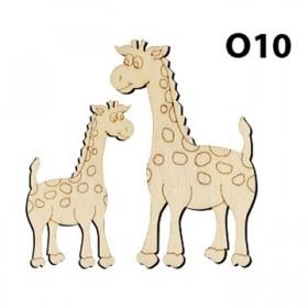Lazer Kesim Ahşap Obje 2'li Zürafa O10