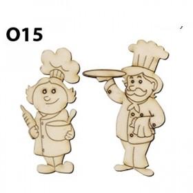 Lazer Kesim Ahşap Obje Bay Bayan Aşçı O15