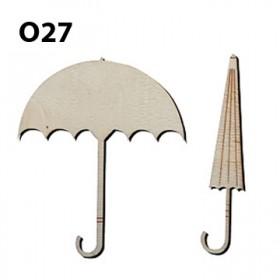 Lazer Kesim Ahşap Obje Şemsiyeler O27