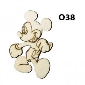 Lazer Kesim Ahşap Obje Mickey O38