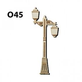 Lazer Kesim Ahşap Obje Sokak Lambası O45