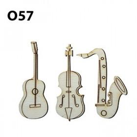 Lazer Kesim Ahşap Obje Müzikal O57