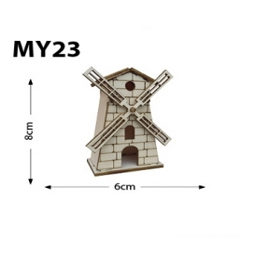 Değirmen Minyatür Ahşap Obje MY23