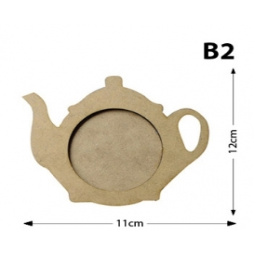 Çaydanlık Bardak Altlığı Lazer Kesim B2