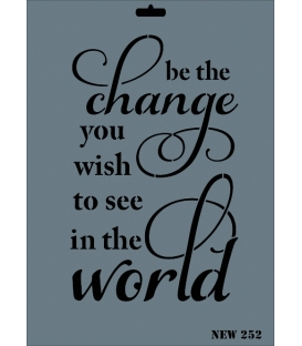 Rich New Seri N-252 Change World Stencil 35x25cm