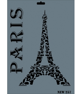 Rich New Seri N-257 Eyfel Paris Stencil 35x25cm
