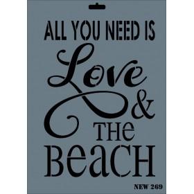 Rich New Seri N-269 Love Beach Stencil 35x25cm