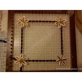 Çivili Kasnak işi Özel Kasnak 30x30 cm