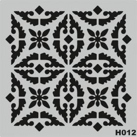 H012 Stencil Şablon 25x25cm