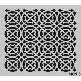 H013 Stencil Şablon 25x25cm