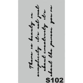 S102 Stencil 9x16 cm
