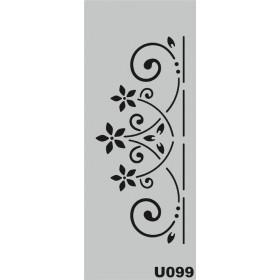U099 Stencil 10x25 cm