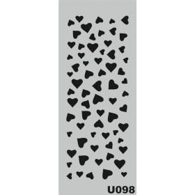 U098 Stencil 10x25 cm