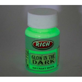 Rich NATURAL YEŞİL Karanlıkta Parlayan (Glow In The Dark) Hayalet Boya