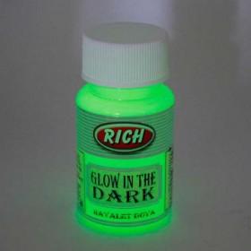 Rich YEŞİL Karanlıkta Parlayan (Glow In The Dark) Hayalet Boya