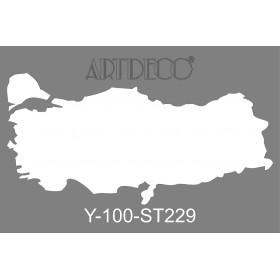 Artdeco Stencil A4  21x29cm Türkiye ST223