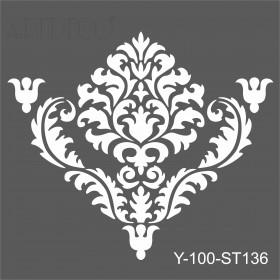 Artdeco Stencil Damask 2 - 30x30cm -ST136