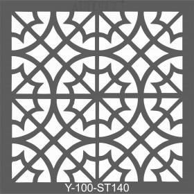 Artdeco Stencil Fas Bordür-2- 30x30cm -ST140