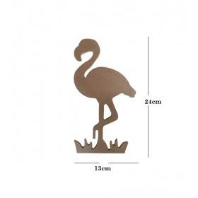 Flamingo küçük 13x24cm Ahşap Obje