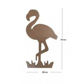Flamingo Büyük 20x35cm Ahşap Obje