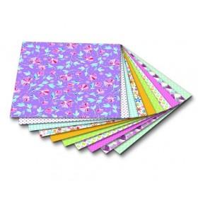 Folia Origami Kağıdı 15x15 cm. 10 Desen 50 Yaprak Springtime
