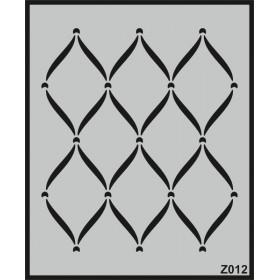 Z012 Duvar Stencil Şablon 60cm x 50cm