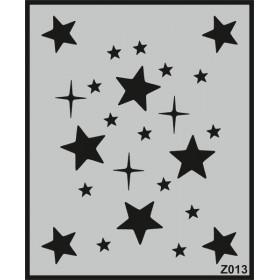 Z013 Duvar Stencil Şablon 58cm x 45cm