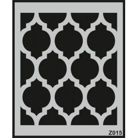 Z015 Duvar Stencil Şablon 58cm x 45cm
