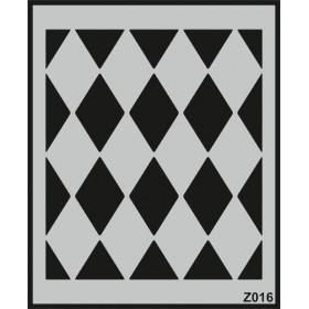 Z016 Duvar Stencil Şablon 58cm x 45cm