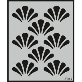 Z017 Duvar Stencil Şablon 58cm x 45cm