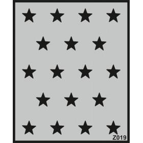 Z019 Duvar Stencil Şablon 58cm x 45cm