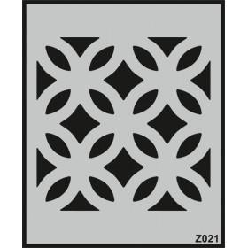 Z021 Duvar Stencil Şablon 60cm x 50cm