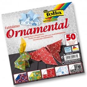 Folia Ornamental Katlanır Süs Kağıdı 80 gr. 15x15 cm. 5 Motif 50 Yaprak