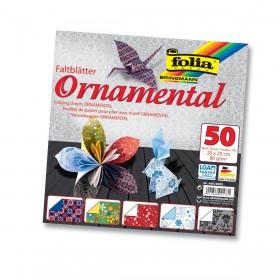 Folia Ornamental Katlanır Süs Kağıdı 80 gr. 20x20 cm. 5 Motif 50 Yaprak