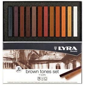 Lyra Polycrayons Soft - Toz Pastel 12 Renk KAHVE TONLARI