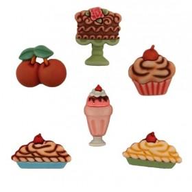 Dekoratif Düğme Pasta Kiraz SD102