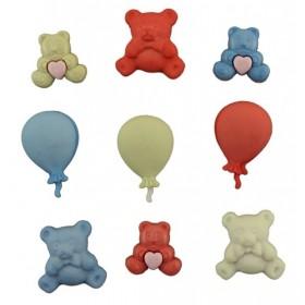 Dekoratif Düğme Ayıcık ve Balon 4080
