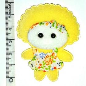 Süslü Bez Bebek K.SARI 6cm