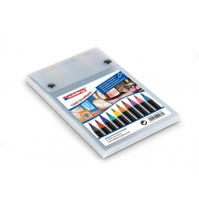 Edding 1340 Brushpen(Fırça Uçlu) Kalem 10 Renk Paket