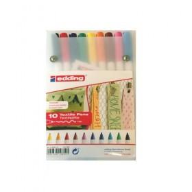Edding 4600 Textile Pens (Tekstil Kalemi) 10 Renk