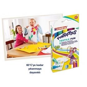 Edding Funtastics Textile Kumaş Boyama Kalemi 5 Renk