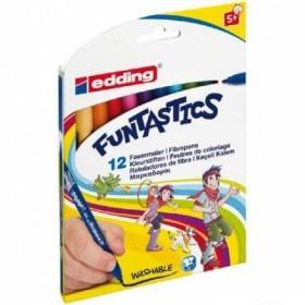 Edding Funtastics İnce Uçlu Keçeli Kalem Seti 12 Renk